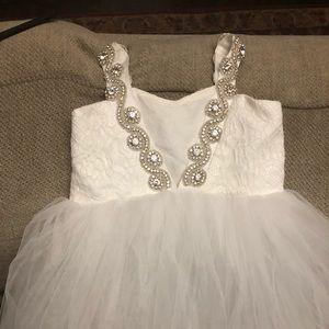 190f3a3cc Girls Itty Bitty Toes Bianca Dress 5t